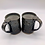 Thumbnail: Pair of Brown and White Speckled Stoneware Mugs