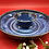 Thumbnail: Blue Stoneware Chip and Dip Server - only 1 available