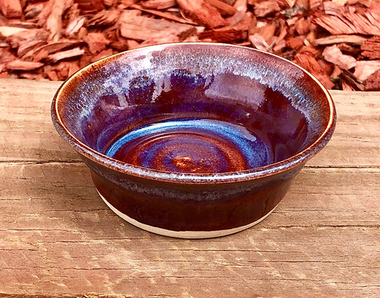 Small Ruby and Blue Stoneware Bowl - only 1 available
