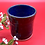 Thumbnail: Deep Burgundy and Blue Stoneware Tumbler - only 1 available