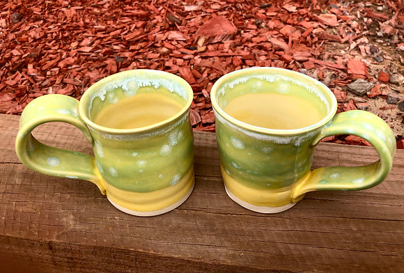 Pair of Happy Lemon-Lime Mugs - only one set available