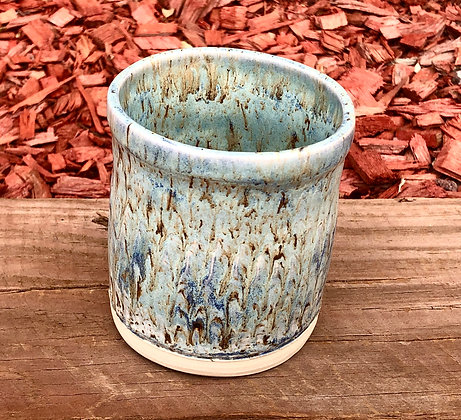 White, Blue, Brown Streaked Tumbler - only 1 available