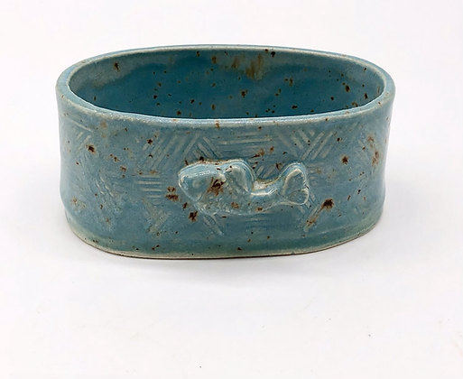 Small Sea Green Speckled Bowl