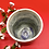 Thumbnail: Rustic Blue/Gray Stoneware Tumbler with Off-White Rim - only 1 available