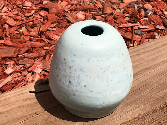 Robin's Egg Blue Stoneware Vase - only 1 available