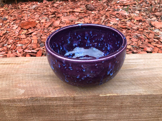 """""""Purple Rain"""" Stoneware Bowl - only 1 available"""