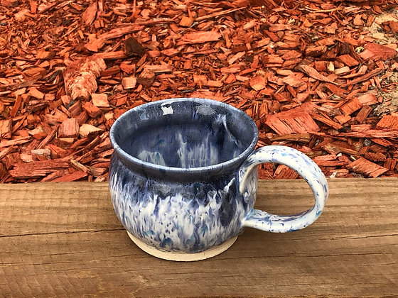 Hand-Made Blue Stoneware Mug - only 1 available