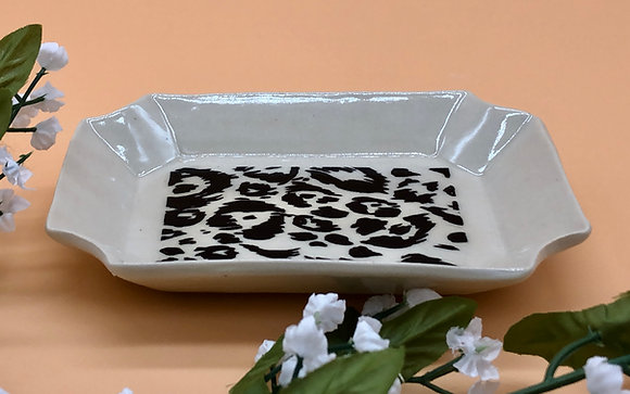 Black and White Leopard Print Trinket Dish - only 1 available