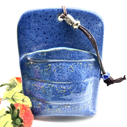 Charming Blue Stoneware Wall Hanging - only 1 available