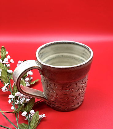 Hand-Carved Dark Cream Mug - Only 1 available