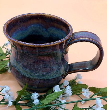 Deep Burgundy and Blue Swirl Mug - only 1 available