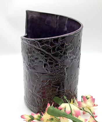 Stunning Asymmetrical Deep Purple Vase - only 1 available