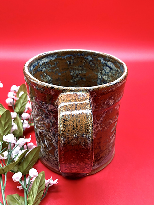 Brown, Blue, Tan Stoneware Mug - only 1 available