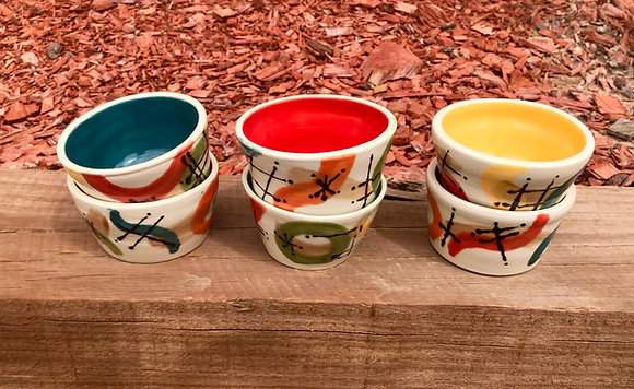 Set of Six Retro Design Dessert Cups - only 1 set available
