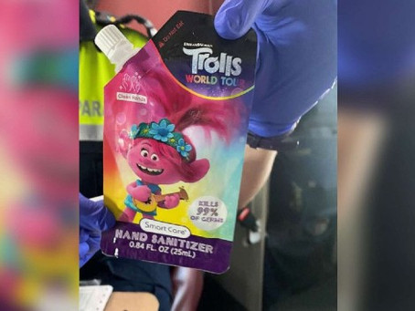 Hand Sanitizer in Food Pouch is Recalled