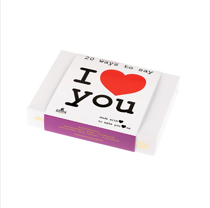 The Love Collection - 20 chocolate hearts in a deluxe box