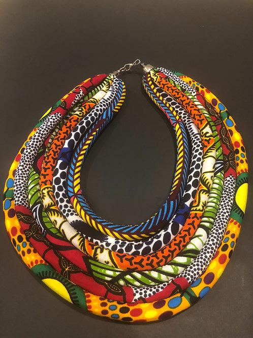 """Queen"" Ankara Multi-Strand Necklace"