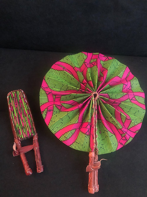 Pink & Green Supreme Ankara Fan