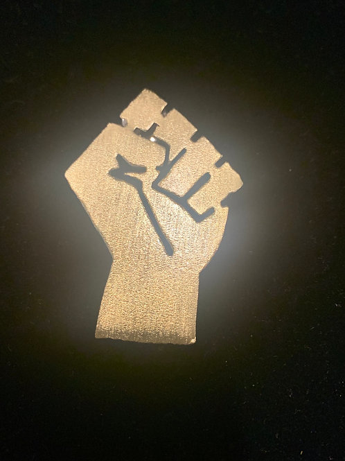 Black Power Brooch
