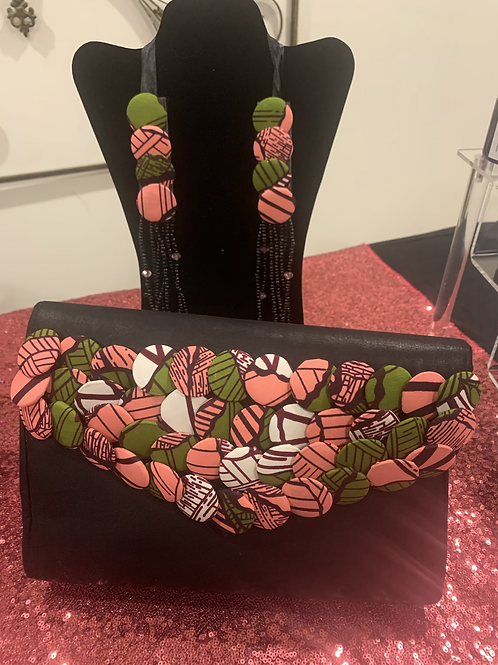 Appletini Clutch & Necklace Set