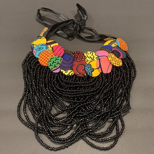 Hauteness Beaded Necklace (Black)