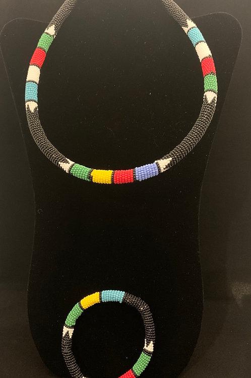 Zulu Necklace & Bracelet Set