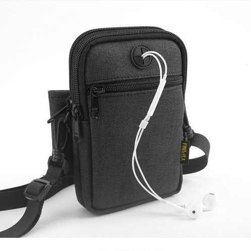 Mini Crossbody Travel Messenger Bag (Waterproof USB Charging ability)