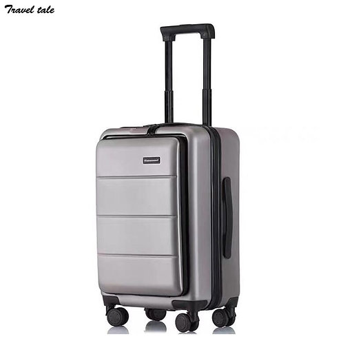 "Travel Suitcase with Laptop Storage Luggage Wheels 20"" ABS PC"