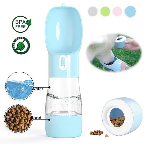 Portable Pet Water Bottle Feeder Bowl Suitable for Dogs and Cats