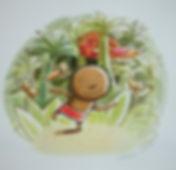 dieterlé,illustratrice,album,zékéyé,galerie,nathalie,oiseau,hachette,original,dessin