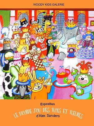 Exposition,Woodykids,Sanders,dessins,illustrations,location,rois,reines,médiathèque,Pef,bibliothèque,Gallimard,location