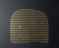 Aleph noir et or 40 x 30