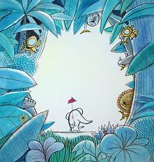 dieterlé,illustratrice,album,jojo,galerie,nathalie,oiseau,hachette,original,dessin