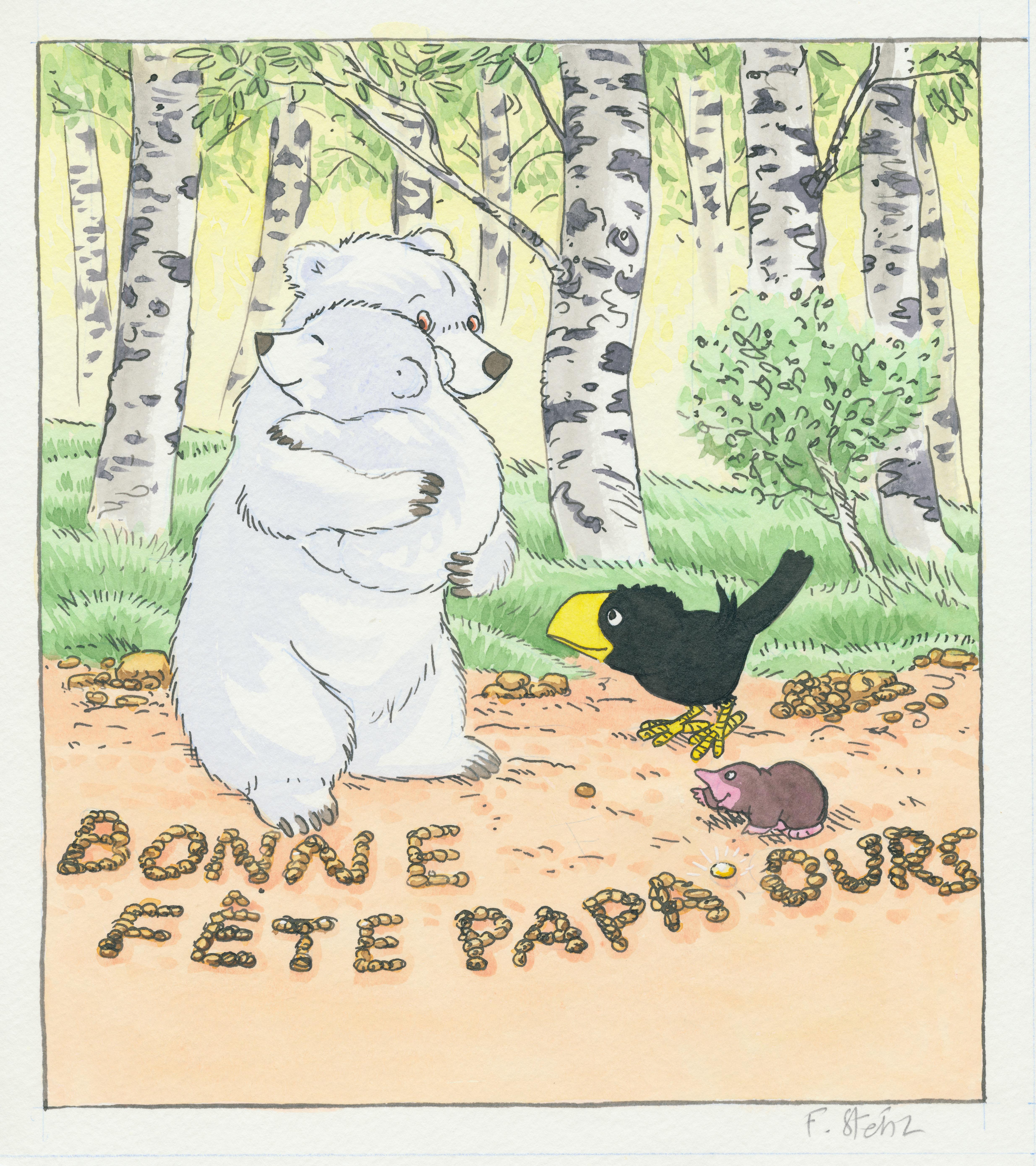 Bonne fête papa ours