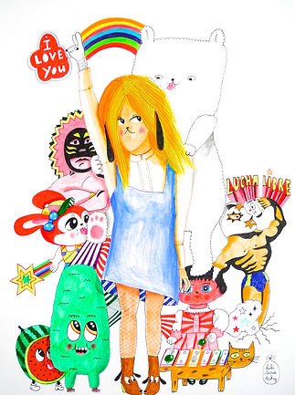 lili,scratchy,galerie,acheter,original,kids,vente,illustration
