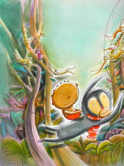 Zékéyé et le singe Cocodi