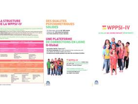 WPPSI-IV -Échelle d'intelligence de Wechsler pour enfants -4ème édit.De 2 ans 6 mois à 7 ans 11 mois