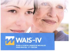 WAIS-IV - Échelle d'intelligence de Wechsler pour adultes - 4ème édition.De 16 ans à 79 ans.