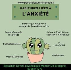 Habitudes liées à l'anxiété