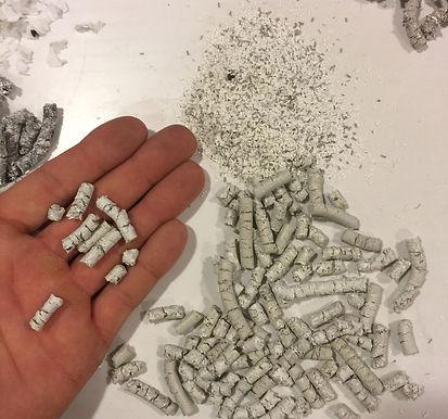 Granulat (pellety) z plastiku po obróbce