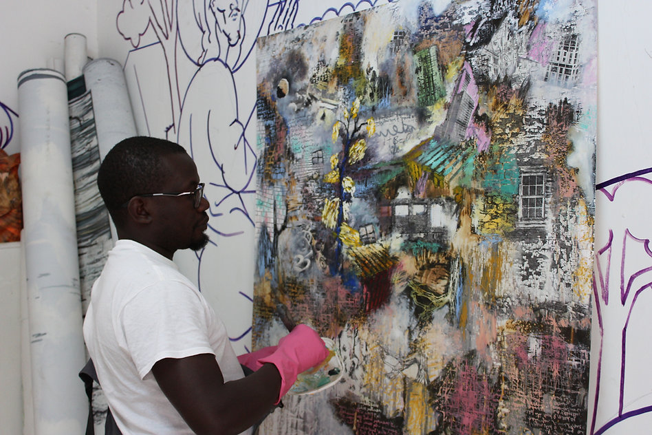 Paul Onditi in his studio