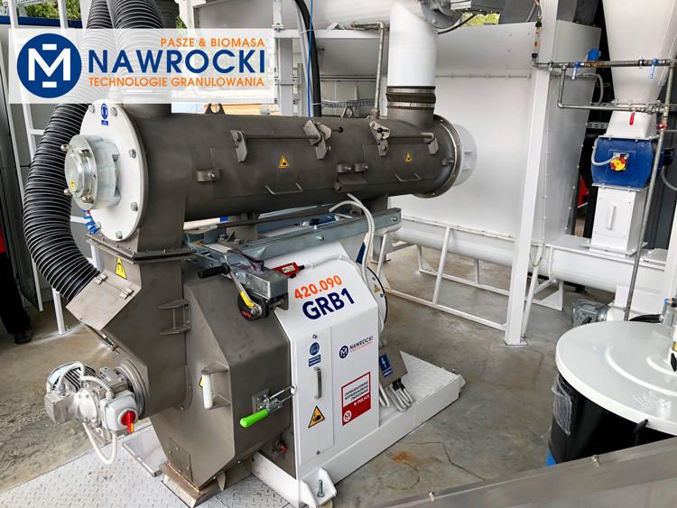 Granulator GRB1 420.090 - matryca 420mm, silnik 90kW, wydajność 1 t/h dla trocin z drzew iglastych, Nawrocki Technologie Granulacji