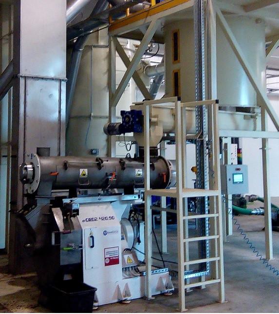 Granulator GRB1 420.090 o wydajności 1,0 t/h dla suchego pofermentu