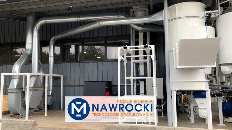 Nawrocki Technologie Granulowania - system odpylania linii granulacji biomasy