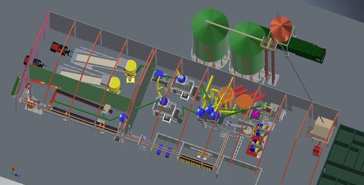 Projekt fabryki pelletów z pofermentu z biogazowni o wydajności 5-8 t/h