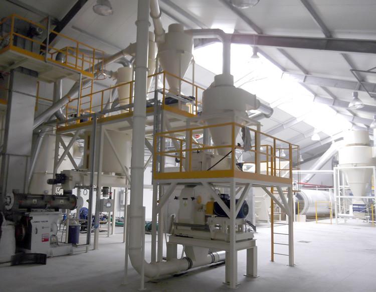 Fabryka pelletów z mokrego pofermentu - 1,0 t/h: suszarnia bębnowa, młyn bijakowy, granulato