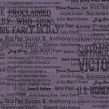 Votes For Women: Amendment Names Purple