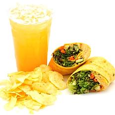 Hummus Veggie Wrap Combo