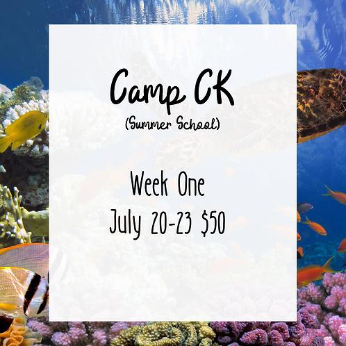 Camp CK Week 1