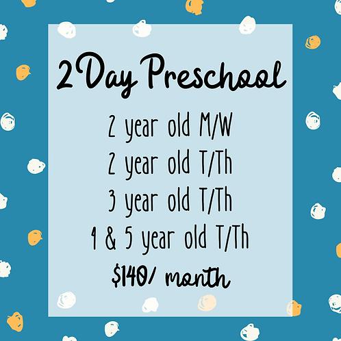 2 Day Preschool